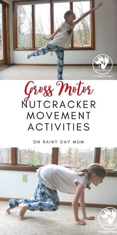 Leap, jump, crawl, spin, march and more with these gross motor activities inspired by the book The Nutcracker.
