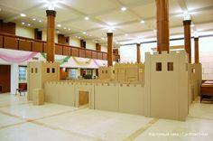 Cardboard temple