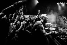 Brilliant picture. Richie Hawtin live during his ENTER. night in Space last weekend