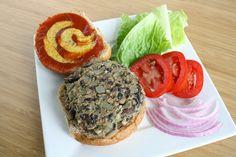 Black Bean Mushroom Burgers