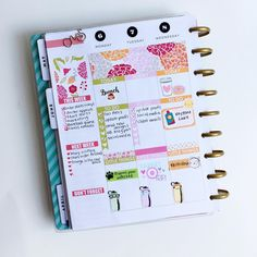 A floral midweek Happy Planner spread
