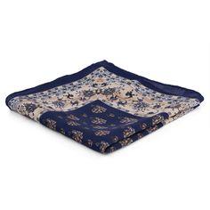 Blue Floral Pocket Square Trendhim KwMSde