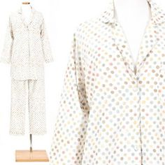 Watercolor Dots Melon Shirt Tail Pajama