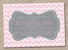 Printable Baby Shower Invitations Pink and by InkObsessionDesigns, $16.00