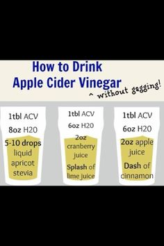 Best way to drink acv
