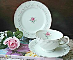 Vintage Royal Swirl Teacup Saucer and Plate by MissMagpiesShoppe, $12.00