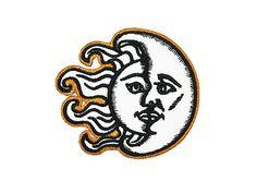 Sun & Moon Eisen auf Patch Sticken Nähen DIY von ExtremeLargeness