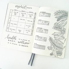 "2,050 Likes, 19 Comments - liz (@bonjournal_) on Instagram: ""So many of you have asked how i use my monthly #healthtracker . Here is April's, all filled out! I…"""