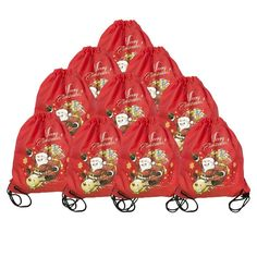 BINGONE Christmas Drawstring Bag Folding Backpack Candy Storage 10 PCS -- Check out this great image  : Christmas Luggage and Travel Gear