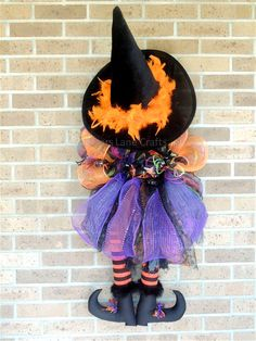 Hey, I found this really awesome Etsy listing at https://www.etsy.com/listing/164819354/deco-mesh-witch-wreath