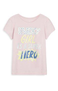 Primark - Pink Girl Superhero T-Shirt Ww Girl, George Kids, T Shirt Painting, Super Hero Outfits, Slogan Tee, Girls Tees, Kids Wear, Trends, Pink Girl