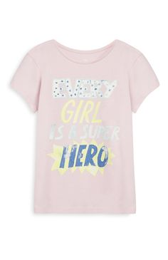 Pink Girl Superhero T-Shirt
