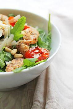 Insalata ala Mamma #salat #salad #chicken #huhn #tomato #tomate #balsamico #balsamic Food Blogs, Comfort Food, Chicken Salad, Cobb Salad, Thai Red Curry, Ethnic Recipes, Fett, Salad With Chicken, Lettuce Recipes