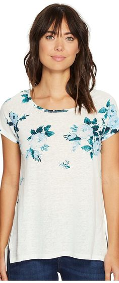 Lucky Brand All Flower Tee (Blue Multi) Women's T Shirt - Lucky Brand, All Flower Tee, 7W82844-460, Apparel Top Shirt, T Shirt, Top, Apparel, Clothes Clothing, Gift - Outfit Ideas And Street Style 2017