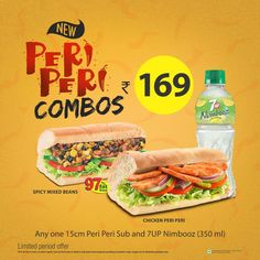 Double Your Monsoon Cheer with #SUBWAY®'s Peri Peri Subs