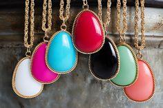 Large Stone Drop Necklace | 7 Colors | Jane