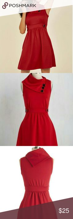 Red plus size dress This dress is made by Monteau it's is true to size material is 50%polyester 45%cotton 5%elastane great red dress for the great spring weather ahead don't miss out on this one ladies make an offer or bundle two and receive 20% off Monteau Dresses