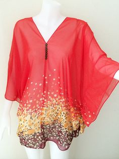 Beach Cover up Hippie Boho Gypsy Tunic Caftan Top dress free size on Etsy, $13.99