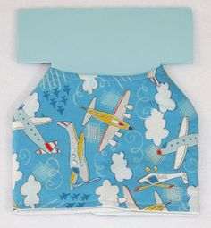 Dog Jacket - Airplanes/Air Mail - Cotton And Quilted Backing - Custom Order by PatienceWayShop on Etsy