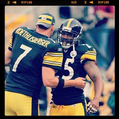 Ben Roethlisberger & Ryan Clark - Pittsburgh Steelers