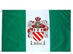 $49.99 Hoffman Family Crest / Coat of Arms Flag. Large 3 ft. x 5 ft. polyester flags.