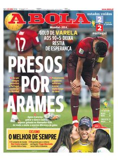 SPORTS And More: #Portugal saved by #Varela goal #RuiCosta the best...