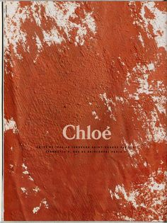 Chloé advertising campaign, 1990. Photographer: Max Vadukul.