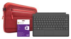 The Surface Accessories Value Bundle includes your choice of select Surface sleeves, a $25 Windows Store app and games card, and either a new backlit Type Cover 2 or a revolutionary pressure-response Touch Cover. Save up to $50. Outside Birthday, Surface 2, Windows Software, 50th Birthday, Birthday Ideas, Store Windows, Windows Phone, Microsoft Surface, Computer Keyboard