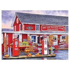"Milton Bradley 1000pc Puzzle - Thelma Winter ""Old Village Hardware Store, Bird-in-Hand, Pa"""