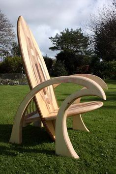 Surfboard chair  ... Uploaded with Pinterest Android app. Get it here: http://bit.ly/w38r4m