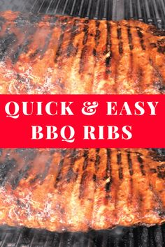 BBQ ribs on the grill. Quick and easy grilled bbq ribs. Bbq Ribs Recipe Grill, Ribs On Gas Grill, Cooking Ribs On Grill, Grilled Bbq Ribs, Bbq Pork Ribs, Marinated Pork, Grilled Ribs Recipe Easy, Grilled Baby Back Ribs, Barbecued Ribs