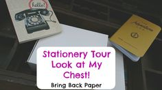 Stationery Tour - Look At My Chest!