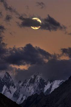 Moonrise in Karakorams by Mobeen Mazhar