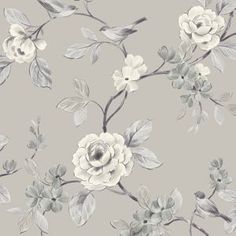 The wallpaper Dream - 6317 from Boråstapeter is a wallpaper with the dimensions x m. The wallpaper Dream - 6317 belongs to the popular wallpaper colle Grey Floral Wallpaper, Bird Wallpaper, Pattern Wallpaper, Original Wallpaper, Design Exterior, Small Space Interior Design, Chinoiserie, Home Art, Floral Prints