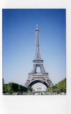 Fuji film, instax. eiffel tower