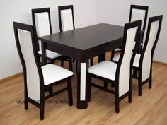 Table + 6 chairs New Wooden Dining Table Modern, Wooden Sofa Set, Dining Table Design, Dinning Table, Dining Set, Dining Bench, Dining Chairs, Study Table Designs, Sofa Design