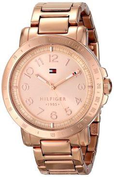 Tommy Hilfiger Women's 1781396 Analog Display Quartz Rose Gold Watch