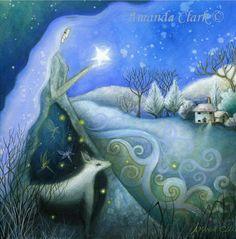 Un conte de fées art imprimé.   « Rêve de l'hiver ».