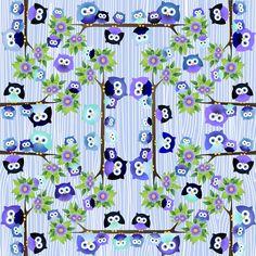 D061 - Corujas Violeta - Fabricart Tecidos