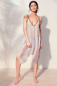 Without Walls Seersucker Romper Coverup - Urban Outfitters
