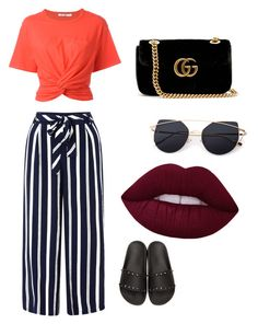 """Untitled #5"" by krvepami on Polyvore featuring Monsoon, T By Alexander Wang, Valentino and Gucci"