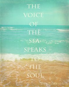 have always loved sitting on the beach, by myself, listening to the sea....