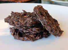 Skinny Weighs: No Bake Chocolate Oatmeal Cookies