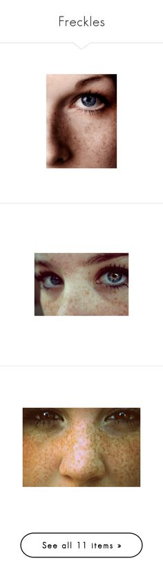 """""""Freckles"""" by nightlight62 ❤ liked on Polyvore featuring eyes, people, makeup, backgrounds, pictures, photos, photography and girls"""