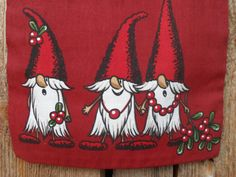 Scandinavian Nordic Christmas Gift Bag Santa Sack Holiday Gift Bag Christmas Fabric Christmas Gift Wrap Gnome Elf Tomte Nisse