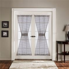 On pinterest french doors french door curtains and curtain rods