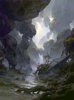 Fantasy Art Engine | Basic Lands by Tianhua Xu