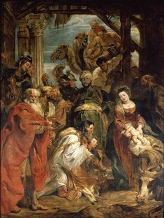"""May the kings of Tarshish and the islands bring tribute, the kings of Sheba and Seba offer gifts. May all kings bow before him, all nations serve him."" Psalm 72:10-11 // Adoration of the Magi / La Adoración de los Reyes Magos / L'Adoration des mages // 1624 // Peter Paul Rubens // © KM SKA // #Jesus #Christ #Epiphany"
