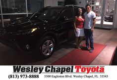 https://flic.kr/p/GYjfqw | Happy Anniversary to Claudia on your #Toyota #RAV4 from Yuri Acosta at Wesley Chapel Toyota! | deliverymaxx.com/DealerReviews.aspx?DealerCode=NHPF