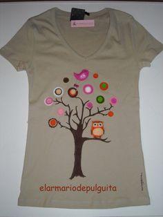 Camiseta con fieltro